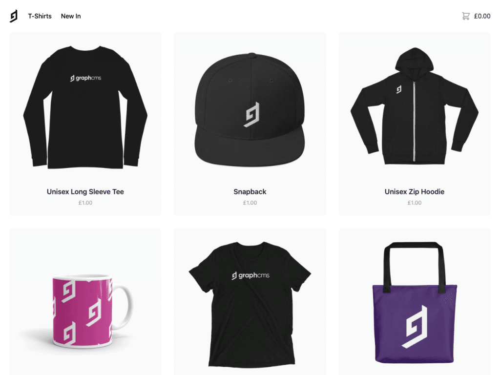 GraphCMS eCommerce Storefront