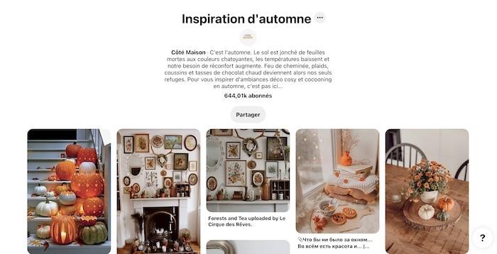 inspiration d'automnne Pinterest par Côté Maison