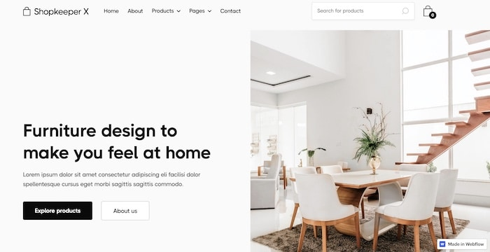 e-commerce Webflow